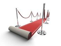 czerwony dywan bariery Obrazy Stock