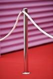 czerwony dywan bariery Obrazy Royalty Free