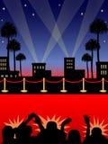 czerwony dywan eps Hollywood royalty ilustracja