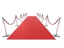 czerwony dywanowa Obrazy Stock