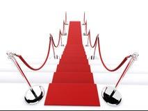 czerwony dywanowa Fotografia Stock