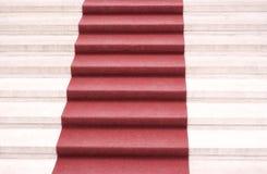 czerwony dywanowa Fotografia Royalty Free