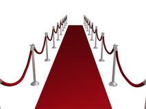 czerwony dywanowa Obraz Royalty Free