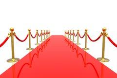czerwony dywanowa Zdjęcia Stock