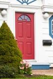 Czerwony dzwi wejściowy Zdjęcie Stock