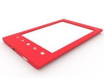 Czerwony Ebook czytelnik zdjęcie stock