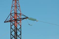 Czerwony elektryczność pilon Zdjęcie Stock
