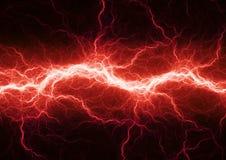 Czerwony elektryczny oświetlenie Fotografia Stock