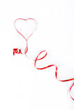 czerwony faborek Obrazy Royalty Free