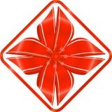 czerwony faborek Obraz Royalty Free