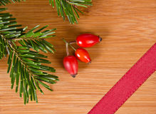 Czerwony faborek i sosna Obraz Stock