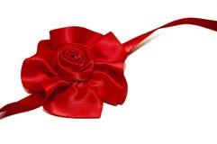 czerwony faborek wzrastał Zdjęcie Royalty Free
