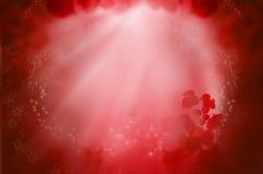 Czerwony fantazi tło dla miłość sen ilustracji