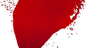 Czerwony farby obcieknięcia puszek nad ekranem farbujący olej ilustracja wektor