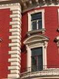 czerwony fasadowa Obrazy Stock