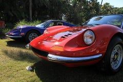 Czerwony Ferrari Dino uszeregowywał 02 Obraz Royalty Free