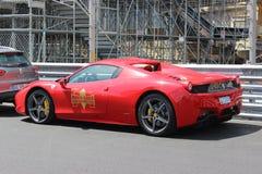Czerwony Ferrari 458 Italia w Monaco Obraz Royalty Free