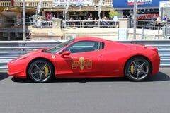 Czerwony Ferrari 458 Italia w Monaco Zdjęcie Stock