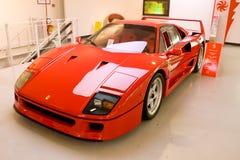 czerwony Ferrari samochodowy sport obrazy stock