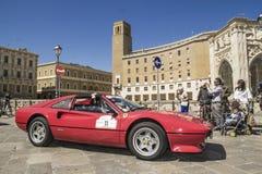 Czerwony Ferrari sqare st oronzo lecka Obraz Royalty Free