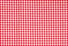 Czerwony firebrick gingham wzoru tekstury tło zdjęcie stock