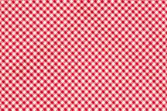 Czerwony firebrick gingham wzoru tekstury tło obraz stock