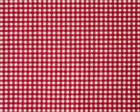 Czerwony firebrick gingham wzoru tkaniny tekstury tło obraz royalty free