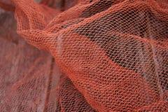 Czerwony fishnet Fotografia Royalty Free
