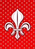 Czerwony Fleur De Lys Królewskość symbol ilustracja wektor