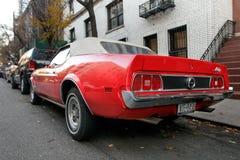 Czerwony Ford Mustuang Zdjęcie Royalty Free