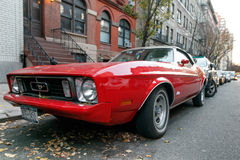 Czerwony Ford Mustuang Fotografia Stock