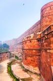 Czerwony Ford w ranek mgle, Agra, India Zdjęcie Royalty Free