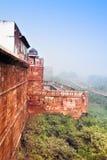 Czerwony Ford w ranek mgle, Agra, India Obrazy Stock