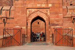 Czerwony fort Agra, India - Zdjęcie Stock