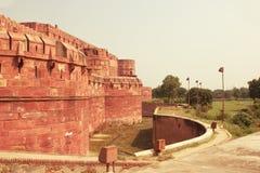 Czerwony fort Agra Uttar Pradesh India Obraz Stock