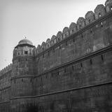 Czerwony fort (Czarny I Biały) fotografia stock