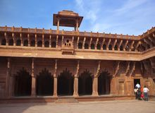 Czerwony fort inside agra India India w słonecznym dniu Fotografia Royalty Free