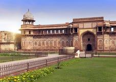 Czerwony fort inside agra India India w słonecznym dniu Obrazy Stock