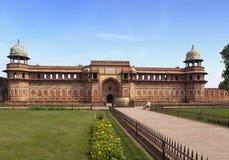 Czerwony fort inside agra India India w słonecznym dniu Zdjęcie Stock