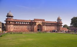 Czerwony fort inside agra indu Obrazy Royalty Free