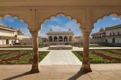 Czerwony fort lokalizować w Agra, India Obrazy Royalty Free