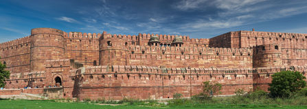 Czerwony fort lokalizować w Agra, India Zdjęcie Stock