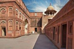 Czerwony fort lokalizować w Agra, India Zdjęcia Stock