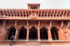 Czerwony fort lokalizujący w Agra, India Obrazy Stock