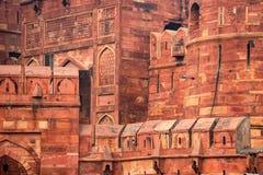 Czerwony fort lokalizujący w Agra, India Zdjęcia Royalty Free