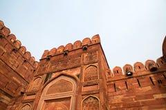 Czerwony fort lokalizujący w Agra, India Fotografia Stock