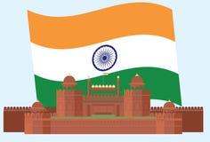 Czerwony fort na India ` s bezpartyjnika dniu Zdjęcie Stock