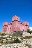 Czerwony fort przy Mellieha, Malta Fotografia Stock