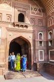 Czerwony fort w Agra, Amar Singh brama, India, Uttar Pradesh Zdjęcie Stock