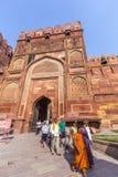 Czerwony fort w Agra, Amar Singh brama, India, Uttar Pradesh Obraz Stock